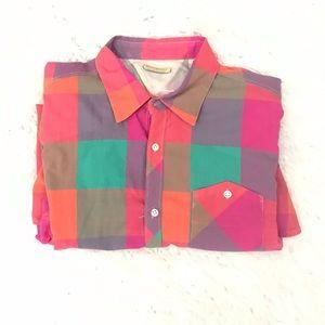 Scotch and Soda multi color plaid shirt size L